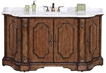 Legion Furniture WH3468 Solid Wood Sink Vanity With Marble Top/Backsplash  and Without Faucet, - Legion Furniture WH3468 Solid Wood Sink Vanity With Marble Top