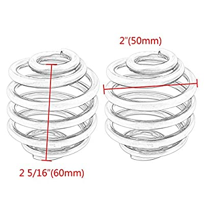 2 Inch Motorcycle Solo Seat Spring Bracket Hardware Mount Kit For Bobber Chopper Custom (Pack of 2): Automotive