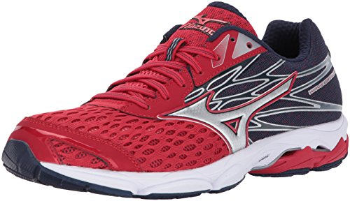 Mizuno Running Men's Wave Catalyst 2 Running Shoes, True Red-Silver, 10 D US