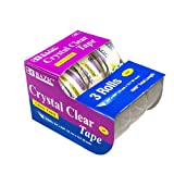 Bazic Products 929-24 BAZIC .75 in. X 500 in. Crystal Clear Tape - 3-Pack Case of 24