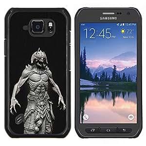 Stuss Case / Funda Carcasa protectora - Abs Homme Démon noir - Samsung Galaxy S6Active Active G890A