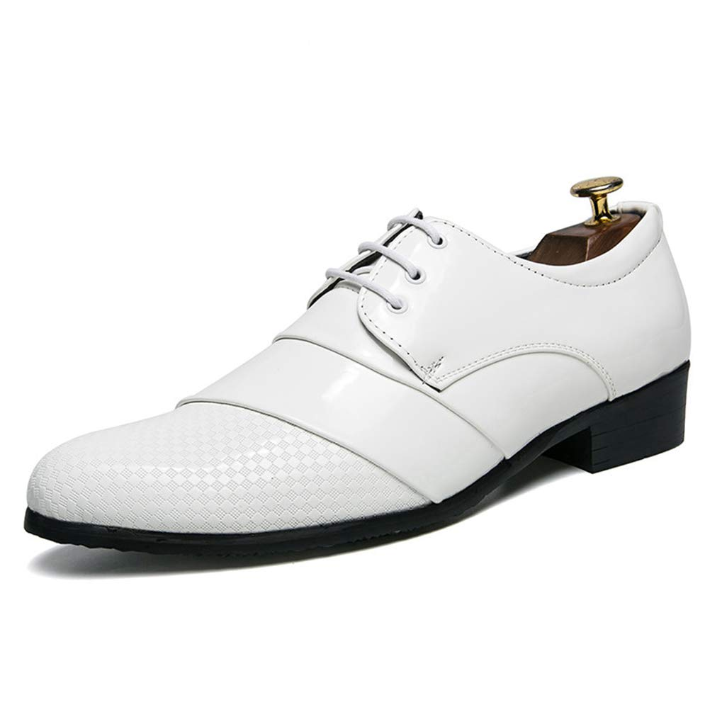 Starttwin Mens Dress Shoes Lace Up Comfortable Wear-Resisting Formal Derby Oxford Shoes