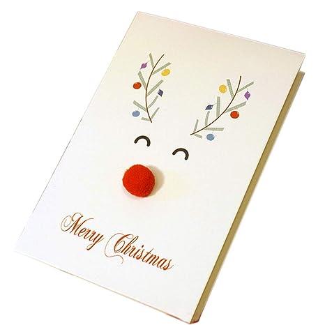 beIilan Tarjeta de Navidad Tarjeta Animal de la Historieta ...