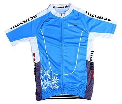 Mzcurse Women's Short Sleeve Wind Cycling Jersey Shirt Bicycle Bike Tees Size XXXL