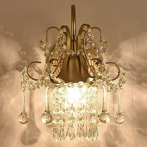 noulerd Lámpara de Pared de Cristal de Auto-instalación, habitación Livg Lámpara de la cabecera del Dormitorio Espejo de...