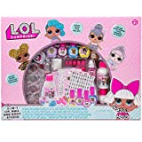 L.O.L. Surprise 3-in-1 Lip Nail & Body Studio by Horizon Group USA, Wear & Share Unique Nail Art, Glosses & Hydrating Lotions, Multicolor