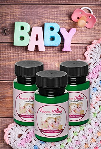 3 Month Supply Organic Cassava Root - Fertility Supplement for Twins - Certified Strongest Product on The Market (Vitamin for a Natural Pregnancy)