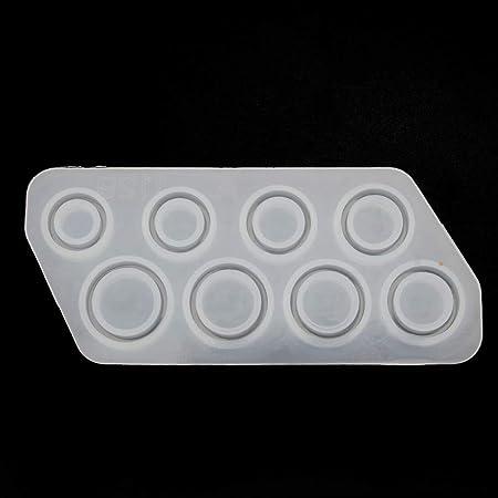 8 pezzi Stampo in silicone per gioielli Mikiya misure assortite