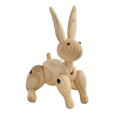 Decoración de madera de conejo artesanal - Muñeca de madera ...