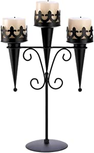 Gifts & Decor 57070313 Medieval Candle Stand, Black