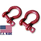 1/2 inch ATV Crosby-McKissick D-Shackles - North American Made (PAIR) (4X4 VEHICLE RECOVERY)