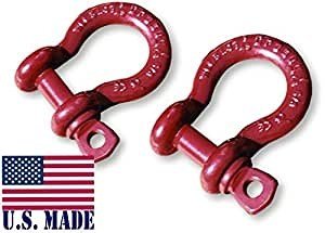 3/4 inch Jeep Crosby-McKissick D-Shackles - North American Made (PAIR) (4X4 VEHICLE RECOVERY)