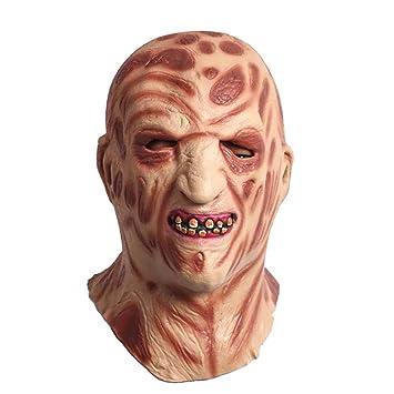 JIAAE Halloween Navidad Máscara De Horror Látex Sombrero De Fuego Quemaduras Monstruo Máscaras Fiesta De Rendimiento