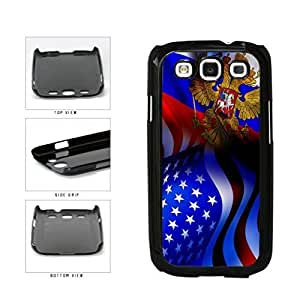 Russia and USA Mixed Flag Plastic Phone Case Back Cover Samsung Galaxy S3 I9300