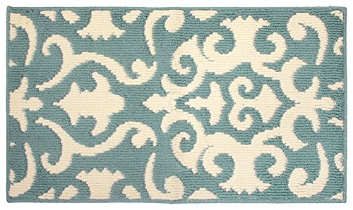 Jean Pierre Phelomena 20 x 34 in. Loop Accent Rug, Mineral Blue/Ivory Review