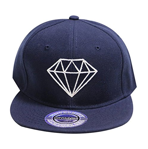 City Hunter Cf918t Diamond Snapback Cap - 5 Colors - Blue -  Amazon.co.uk   Clothing 6084b9b6379b