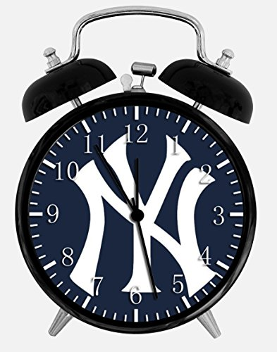 Yankees Twin Bells Alarm Desk Clock 4