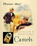 1930 Ad Camel Cigarettes Sailing Sail Boat Ship