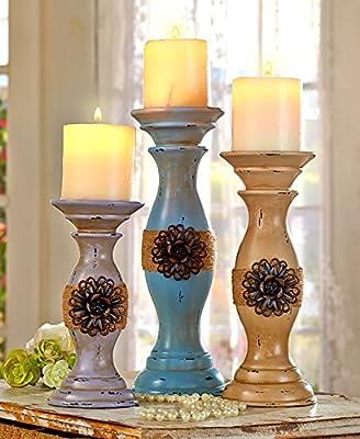 Set of 3 Vintage Inspired Candleholder Set