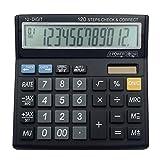 ZHAS Multi-Function Electronic Calculator, 12-Bit Desktop Calculator, Professional Financial Tax Calculation Multi-Function Electronic Calculator