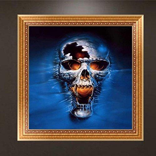Blue Resin Cross - DIY 5D Diamond Painting Kit, Jiayit 5D Skull DIY Diamond Painting Embroidery Cross Craft Stitch Home Decor Art (blue)