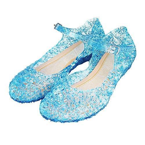 Girls Elsa Shoes - Techcity Princess Girls Sandals Dress Up