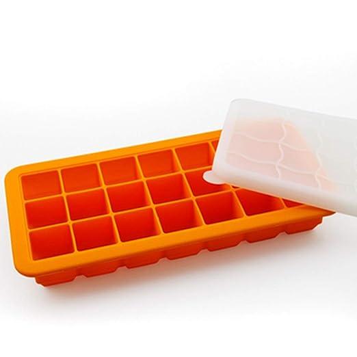 Niño pequeño Bocaditos 21-Grid Fruit Mould, Summer Ice Cream Cube ...