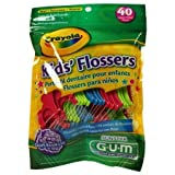 GUM Crayola Kids' Flossers 40 Each (Pack of 3)