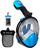 HELLOYEE Snorkel Mask 180° Panoramic View For Adults And Kids, Snorkeling Mask Free Breathing Full Face Anti-Fog Anti-Leak Design With Detachable GoPro Mount
