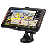 SIXGO GPS Navigation for Car 7 Inch GPS Navigation System for Truck 8GB 256MB Navigation with POI Speed Camera Warning Voice Guidance Lane Free Lifetime Map Updates