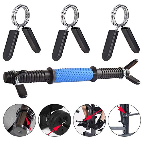 Barbell-Spring-Collar-Clips6-Pieces-Dumbbell-Clamps-1-Inch-Fitness-Spring-Lock-Collars-for-Gym-Weightlifting-Strength-Training