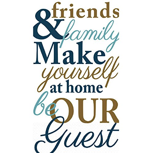 Amscan Friends & Family Guest Paper Towels   8'' x 4''   96 Ct.