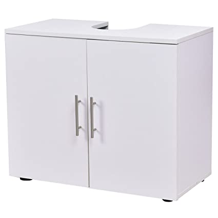 Giantex Non Pedestal Under Sink Storage Bathroom Vanity Cabinet Space Saver  Organizer, White
