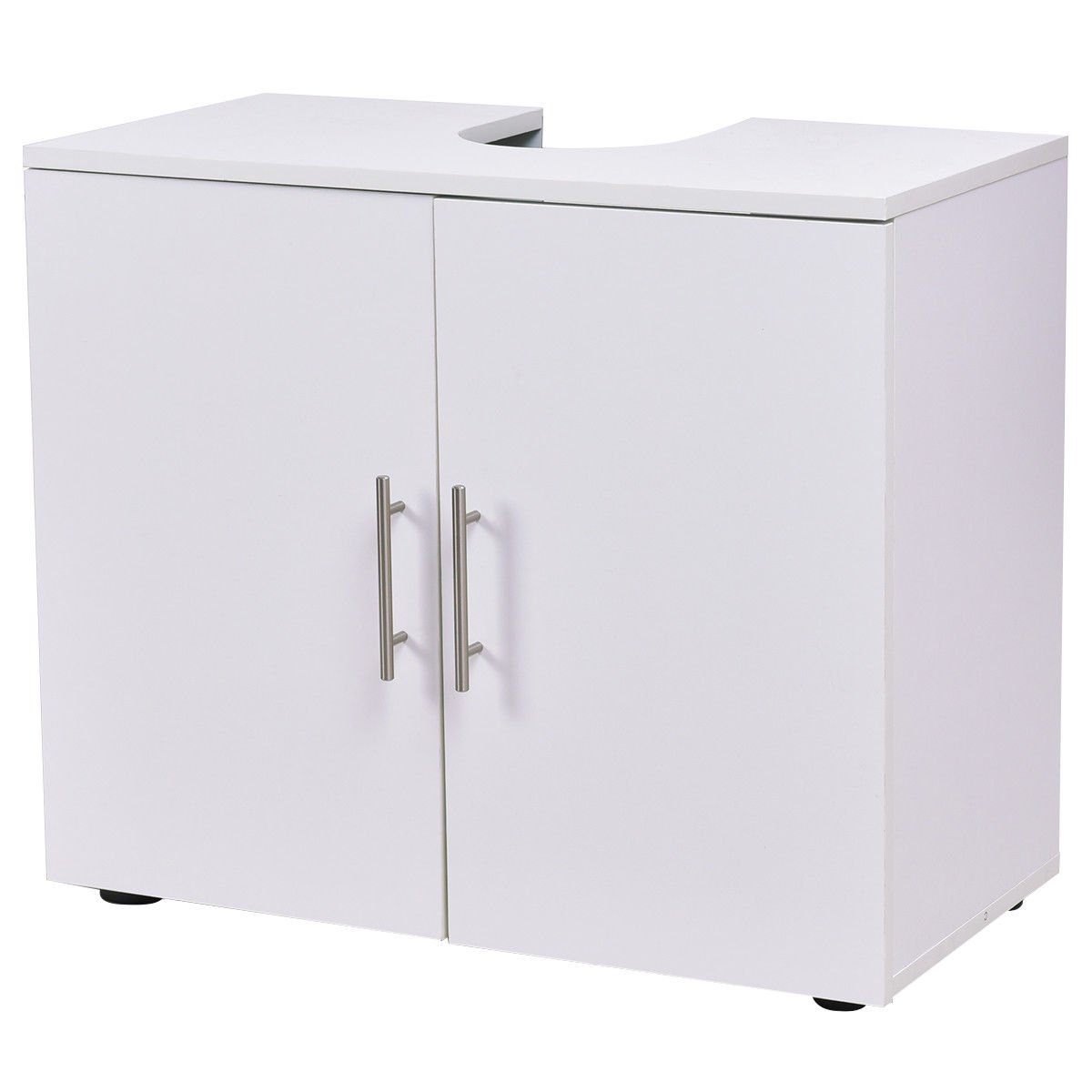 Non Pedestal Under Sink Bathroom Storage Vanity Cabinet Space Saver Organizer