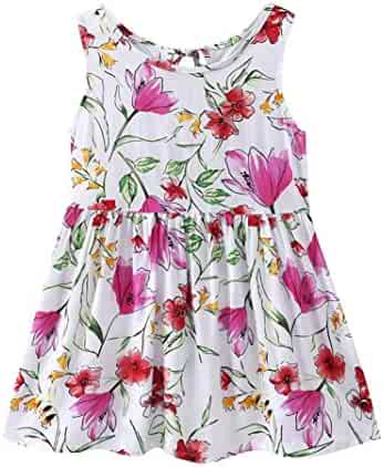 8f913c9d818a Lavany Baby Girls Dresses Cute Sundress Floral Cotton Casual Dress for Little  Girl