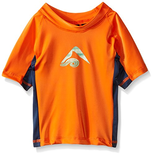 Kanu Surf Little Boys' Toddler Halo UPF 50+ Sun Protective Rashguard, Orange, 4T