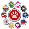 Love Your Pets Deluxe Pet ID Tags - Deep Engraved Stainless Steel - Engraving Will Last - 120 Design Choices of Pet Tags, Dog Tags, Cat Tags Most Ship Next Day