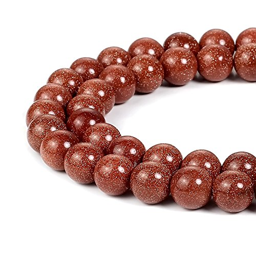 8mm Natural Gold Sandstone Beads Round Gemstone Loose Beads for Jewelry Making (47-50pcs/strand)