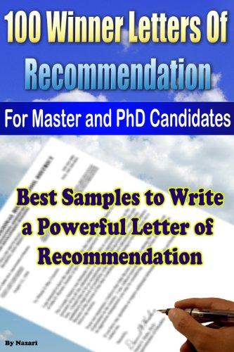 letter of reccommendation samples