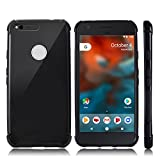 Google Pixel Case, CHOETECH Soft Flexible TPU Protective Case Shock-absorption Bumper Case Anti-scratch Back Cover for Google Pixel 5.0 inch (2016 Release) - Black