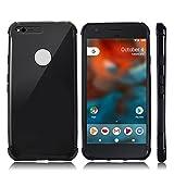 Google Pixel Case, CHOETECH Soft Flexible TPU Protective Case Shock-absorption Bumper Case Anti-scratch Back Cover for Google Pixel 5.0 inch (2016 Release) - Black