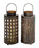 Deco 79 22231 Metal Candle Lantern (2 Assorted), 6''W/18''H