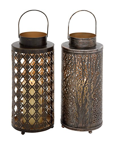 Deco 79 22231 Metal Candle Lantern (2 Assorted), 6''W/18''H by Deco 79