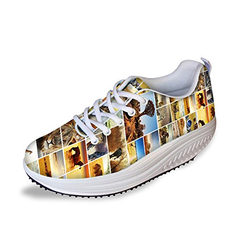 Puzzle Platform Animals Sport Women IDEA 4 HUGS Animals Shoes Printed Sneakers 1EXnq4