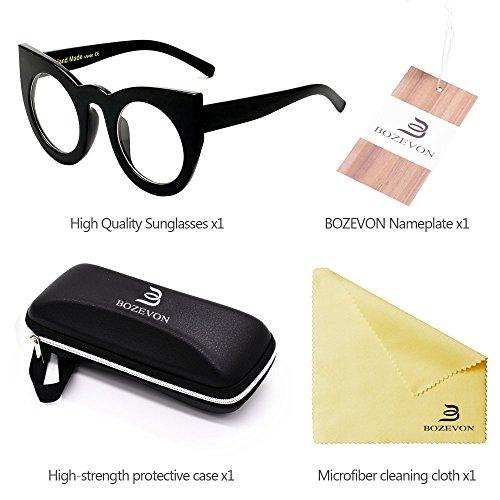 De Chat Mode Gradient Eyewear transparent Lens Oeil À Rétro Noir Lunettes Color Cute Party Bozevon Féminine Soleil qTSzwXX1