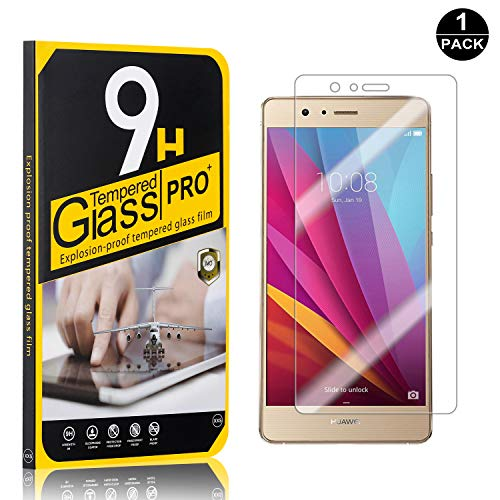 Huawei P9 Lite Tempered Glass Screen Protector, UNEXTATI 9H Hardness Screen Protector Film, HD Clear Tempered Glass Film for Huawei P9 Lite (1 Pack)