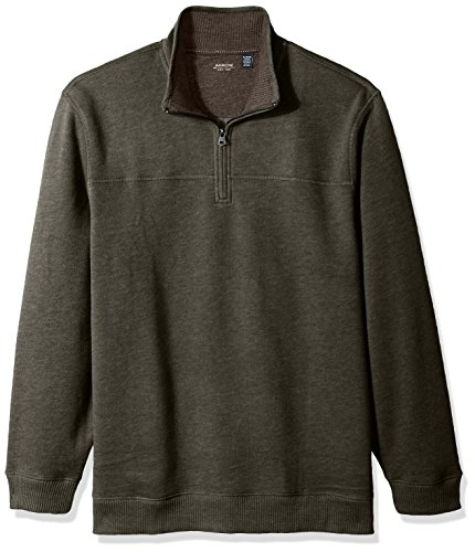 Arrow Men's Long Sleeve 1/4 Zip Sueded Fleece, Rosin Heather, (1/4 Zip Long Sleeve Top)
