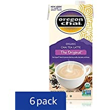 Oregon Chai Concentrate Original 32-Ounce Boxes (Pack of 6),  Liquid Chai Tea Concentrate, Spiced Black Tea For Home Use, Café, Food Service