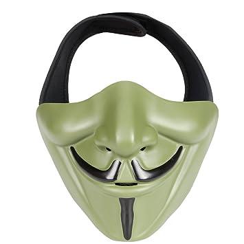 XUE Airsoft - Máscara de media cara para niños y jóvenes con casco táctico rápido,