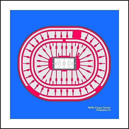(Philadelphia 76ers Wells Fargo Center Arena Print Art Gift)